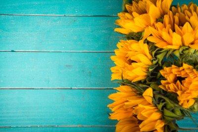 Nálepka slunečnice na stůl