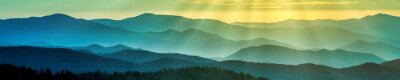 Nálepka Smoky Mountain hřebeny