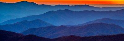 Nálepka Smoky Mountain sunset