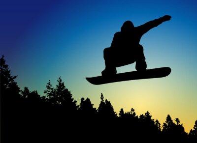 Nálepka Snowboard Jump