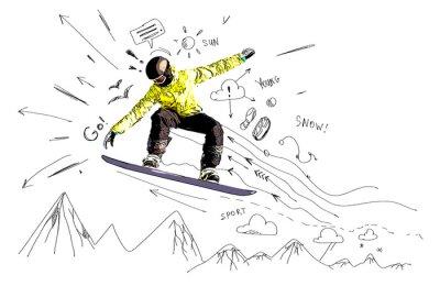 Nálepka Snowboarding