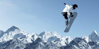 Nálepka Snowboarding sportovní