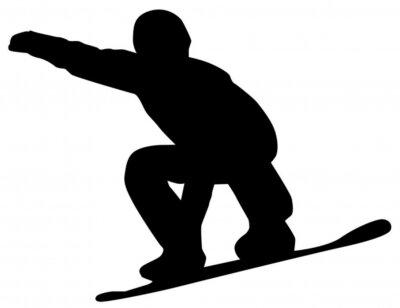 Nálepka Snowboardista