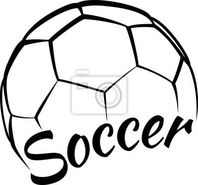 Nálepka Soccer with Fun Text