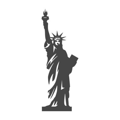 Nálepka Socha svobody ikona - ilustrace
