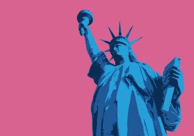Nálepka Socha svobody - New York - symbole, américain - décoration - déco - fond