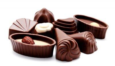 Nálepka Sortiment čokoládové cukrovinky izolovaných