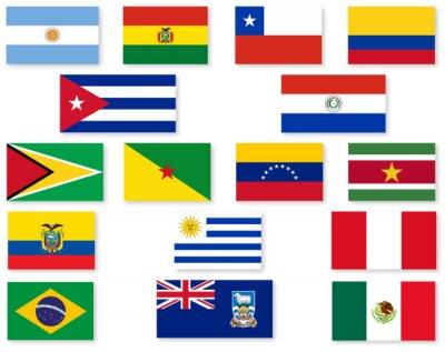 Nálepka South American Flag Set