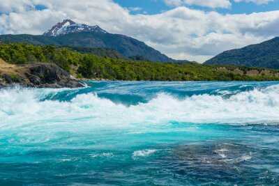 Nálepka Soutok řeky Baker a řeku Neff, Chile