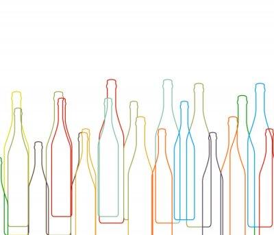 Nálepka Souvislosti s lahví nastavit