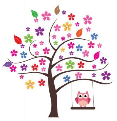 Nálepka Sova ve stromu