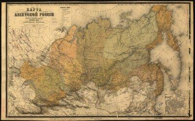 Nálepka Sovětský svaz, Svaz sovětských socialistických republik, mapa