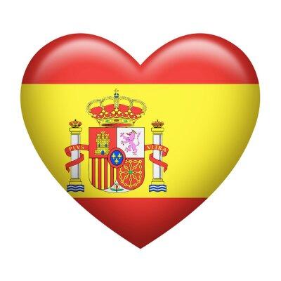 Nálepka Španělský Insignia Heartshape