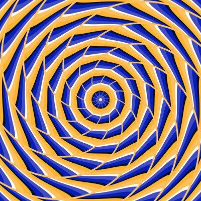 Nálepka Spirála kroucení do centra. Abstraktní vektorové optický klam pozadí.