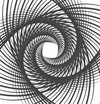 Nálepka spirála vír abstraktní pozadí černé a bílé