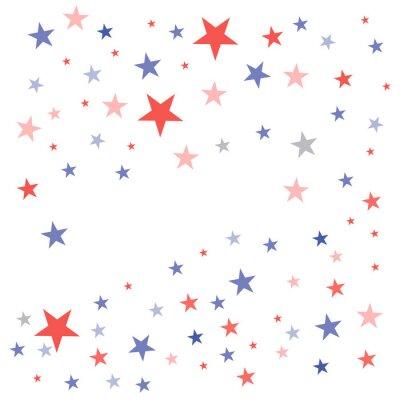 Nálepka Spojené státy Vlastenecké pozadí v barvách vlajky s vybledlé tupé hvězdy rozptýlené na bílém pozadí