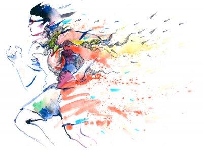Nálepka sport běh