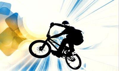 Nálepka Sport illustration of bmx rider