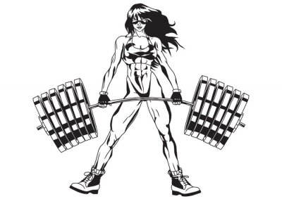 Nálepka Sportovní dívka