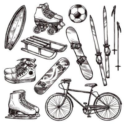 Nálepka Sportovní zařízení Set