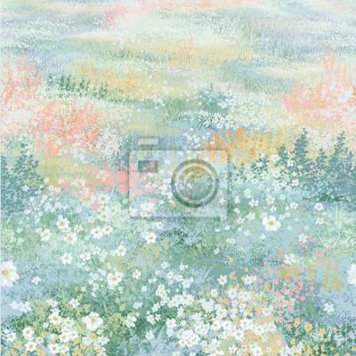 Spring landscape paintings, digital art