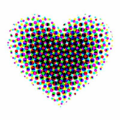 Nálepka Srdce půltón