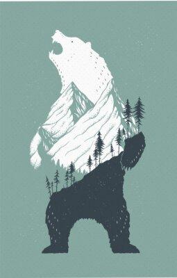 Nálepka Stálý medvěd Ilustrace