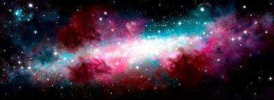 Nálepka Star nebula birth of a galaxy. The birth of the galaxy. Shining stars. Star nebula. Cluster of stars. The night starry sky. Space background. Spase. Universe