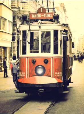 Nálepka Stará tramvaj na Istiklal ulici, Istanbul.