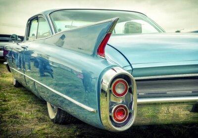 Nálepka Staré americké auto v stylu vintage
