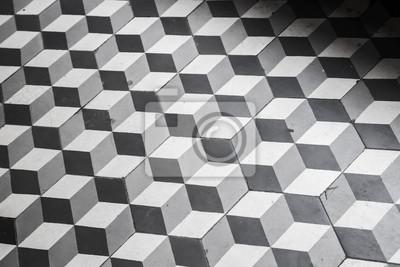 e31148768f Nálepka Staré černé a bílé obklady na podlaze