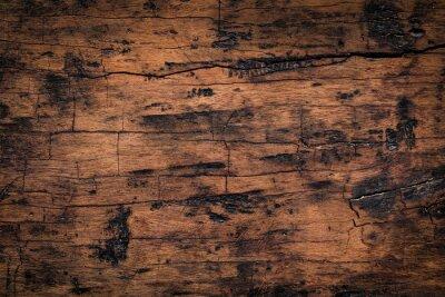 Nálepka Staré dřevěné prkenné textury pozadí. Přírodní zvětralé textury dřevěných desek.