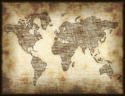 Nálepka staré mapy