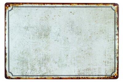 Nálepka Staré prázdné rezavé cedule s pozadím kopie prostoru pro váš text