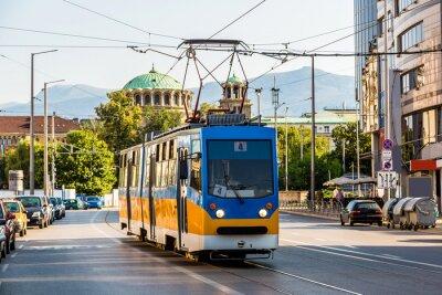 Nálepka Staré tramvaje v Sofii