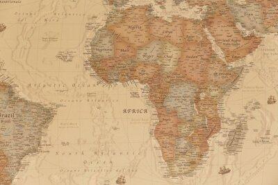 Nálepka Starověká geografická mapa Afriky se jmény zemí