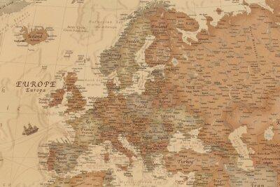 Nálepka Starověká geografická mapa Evropy se jmény zemí