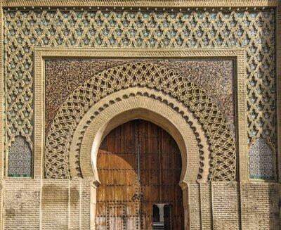 Nálepka Starověké brány v Meknes, Maroko