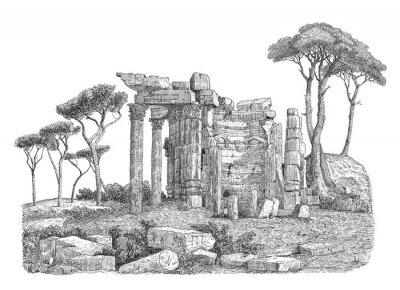 Nálepka Starověké řecké sloupec ilustrační