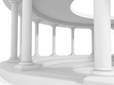 Nálepka starověký styl sloupců architektura design pozadí