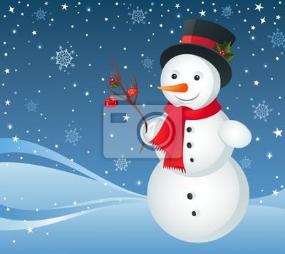 Nálepka Šťastné sněhulák