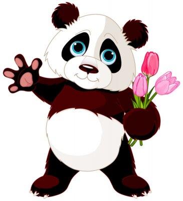 Nálepka Šťastný Panda