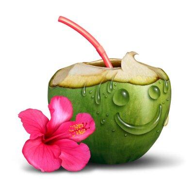 Nálepka Šťastný Tropical Drink Concept
