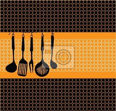 Stojan kuchyňské náčiní ilustrace