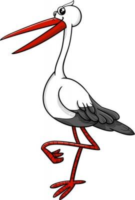 Nálepka stork bird animal character