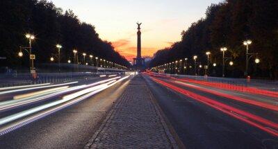 Nálepka Straße des 17. Juni v Berlíně mit siegessäule
