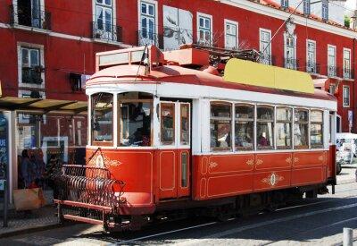 Nálepka Strassenbahn v Lissabon