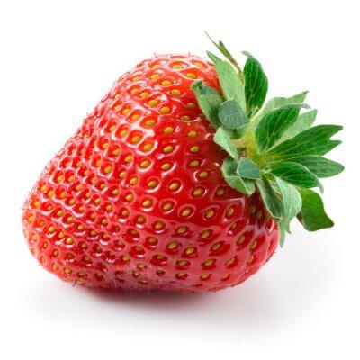 Nálepka Strawberry izolovaných na bílém pozadí