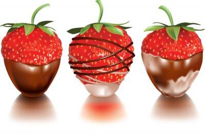 Nálepka Strawberry v kapalině