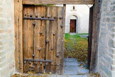 Nálepka středověký kostel